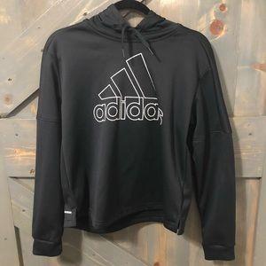 Adidas Black Pullover Jacket Size M-Three Stripes